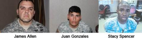 James Allen, Juan Gonzales and Stacy Spencer