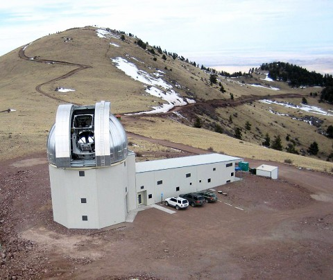 The New Mexico Institute of Mining and Technology's 2.4-meter (7.9-foot) Magdalena Ridge Observatory in Socorro County, NM. (New Mexico Tech)