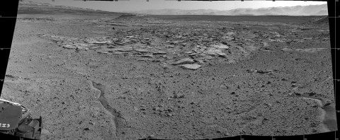 "NASA's Curiosity Mars rover recorded this view of various rock types at waypoint called ""the Kimberley"" shortly after arriving at the location on April 2, 2014. (NASA/JPL-Caltech)"