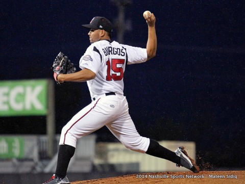 Nashville Sounds pitcher Hiram Burgos. (Nashville Sports Network - Mateen Sidiq)