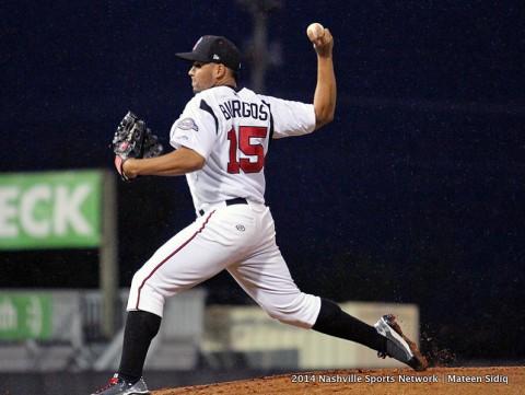 Nashville Sounds pitcher Hiram Burgos. (Nashville Sports Network - Mateen Sidiq)