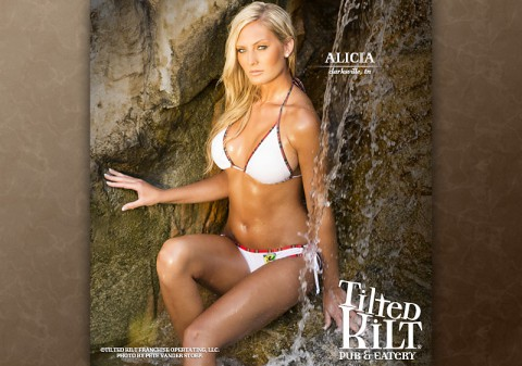 National Tilted Kilt Calendar Girl Alicia Vaillencourt from Clarksville, TN.