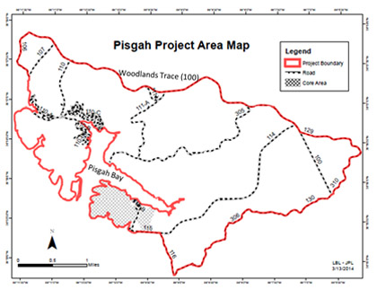 Pisgah Project Area Map
