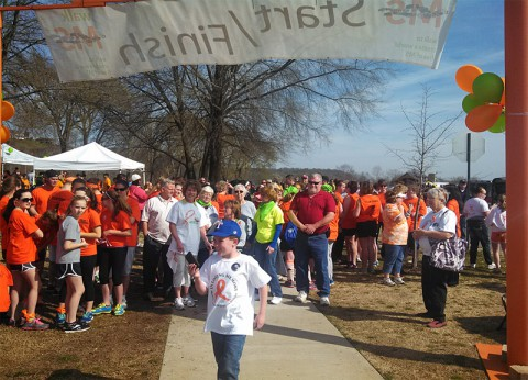 Clarksville Mayor McMillan kicking off last year's Walk MS in Clarksville