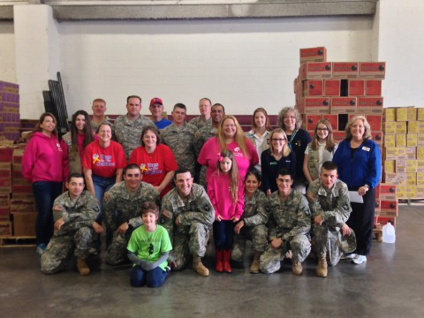 The Girl Scouts donate 27,000 cookies to Hugs for Our  Soldiers