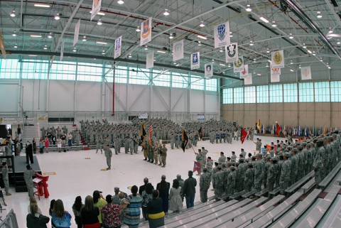 "Formal recognition ceremony of the addition of 2nd Battalion, 506th Infantry Regiment ""White Currahee"" to the 3rd Brigade Combat Team ""Rakkasans"", 101st Airborne Division."