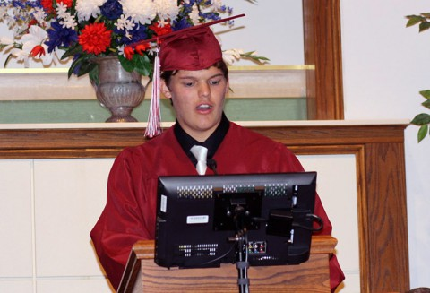 Landon Lee Darnell at 2014 Clarksville Christian School Commencement Ceremony.