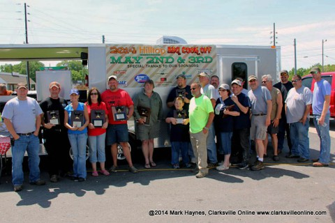 The winners of Hilltop Super Market's 5th annual BBQ Cook-Off.
