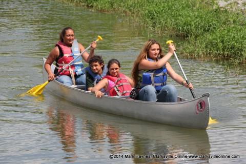 Canoeing on Swan Lake.