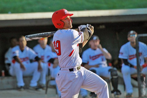 Austin Peay catcher P.J. Torres' ninth-inning squeeze bunt pushed the Govs past Morehead State, Saturday. (Brittney Sparn/APSU Sports Information)