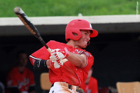 Shortstop Garrett Copeland's two-run home run gave Austin Peay an early lead but they could not hold on in a loss at Morehead State, Sunday. (Brittney Sparn/APSU Sports Information)