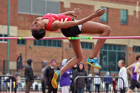 Austin Peay's Briana Kelly captures Gold at OVC Outdoor Championships. (APSU Sports Information)