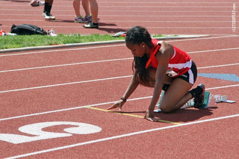 Austin Peay's Breigh Jones prepares for the NCAA Track and Field Championships. (APSU Sports Information)