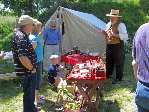 Civil War Medical Display at Fort Defiance Civil War Park on Saturday, May 24th.