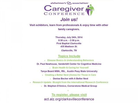Caregiver Conference July 24th, 2014