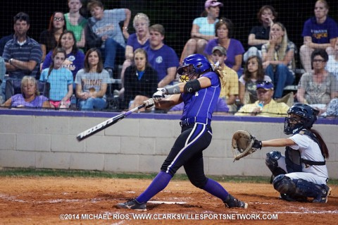 Clarksville High Softball beats Northeast 8-6.