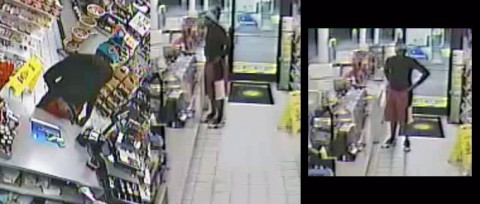Three photos of the BP Robbery Suspect