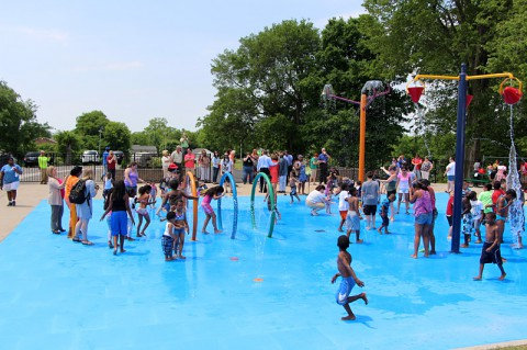 New Splash Park at Clarksville's Edith Pettus Park opened Friday.