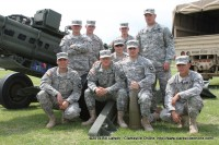 A group of soldiers from the 320th Field Artillery