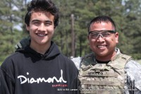 Competitor SSG Mark Bangcaya and his son Mark Angelo Bangcaya II