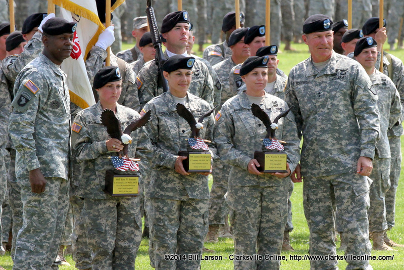 Nco Of The Year Sgt Erin Squires Of The 526th Brigade Support Battalion 2nd Brigade Combat Team 101st Soldier Of The Year Spc Jannise Rodriguez Of The 626th Brigade Support Battalion 3rd