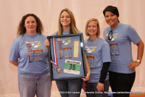 Representatives from Cumberland Bank & Trust were recognized at the 2014 Queen City Road Race