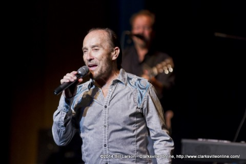Lee Greenwood performing at APSU's George and Sharon Mabry Concert Hall as part of the Clarksville-Montgomery County Convention & Visitors Bureau's Group Tours
