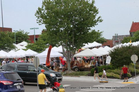 The lower section of the Downtown Market in Historic Downtown Clarksville, Tennessee.