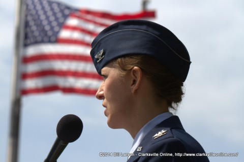 Col. Karen M. Darnell gives the Memorial Day address at the 2014 Montgomery County Memorial Day Ceremony
