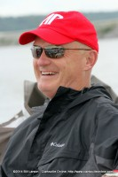 APSU Football Coach Kirby Cannon on the boat at the 2014 APSU Governor's Bass Tournament