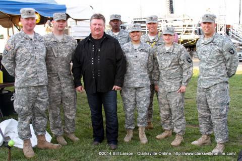 Joe Diffie Meeting with some of the soliders at the Week of the Eagles Concert  at Fort Campbell on Friday