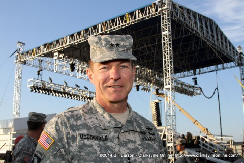 Maj. Gen. James C. McConville at the 2014 Week of the Eagles Concert on Friday