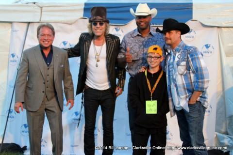 Young Collin with Big and Rich, Cowboy Troy, and Ronnie Barrett.