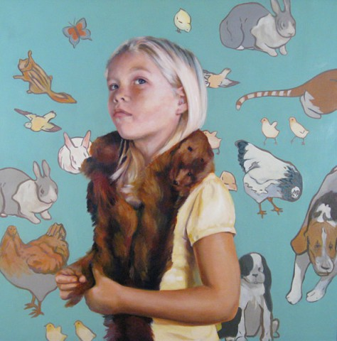 Juried Exhibition: Lewis - The girl with the fox fur