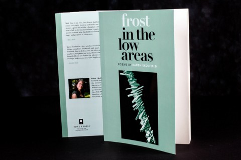 "Karen Skofield's book, ""Frost in the Low Areas,""  recipient of this year's PEN New England Award."