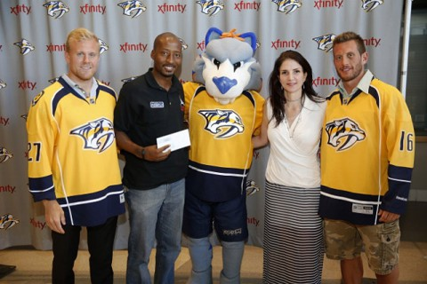 LEAP organization receives grant award from Nashville Predators Foundation.