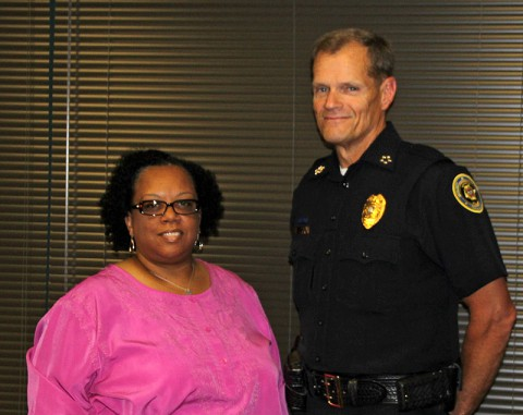 Marla Bonner and Chief Al Ansley