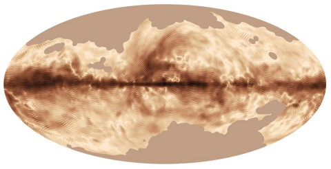 The magnetic field of our Milky Way galaxy as seen by the Planck satellite, a European Space Agency mission with significant NASA contributions. This image was compiled from the first all-sky observations of polarized light emitted by interstellar dust in the Milky Way.