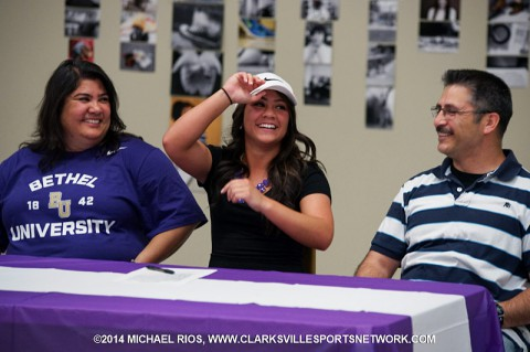 Northeast High School softball player Ciara Aragon signs with Bethel. (Michael Rios - Clarksville Sports Network)