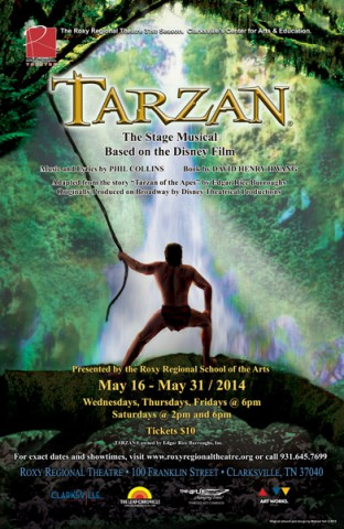 "Roxy Regional Theatre production of Disney's ""Tarzan""."