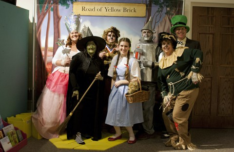 Museum Staff dressed as characters from Wizard of Oz
