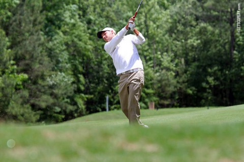 Austin Peay's Marco Iten in third place at NCAA Auburn Regional Golf Tournament. (APSU Sports Information)
