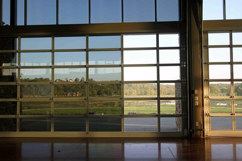 Window film has been installed at the Wilma Rudolph Event Center to reduce sunlight coming into the facility.
