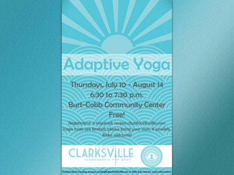 Adaptive Yoga starts July 10th at the Burt Cobb Community Center.