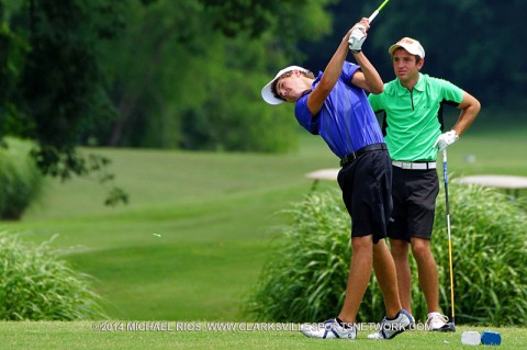 Tyler Guy and Hunter Richardson win Bud Light Two-Man Golf Scramble. (Michael Rios - Clarksville Sports Network)