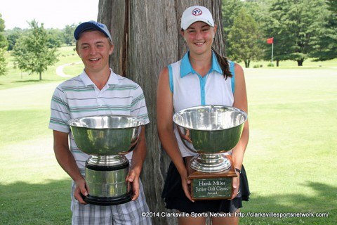 Eric Jinette and Reagan Greene capture Hank Miles Jr. City Amateur titles. (Bill Larson - Clarksville Sports Network)