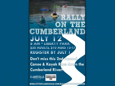 2nd Annual Rally on the Cumberland Canoe and Kayak Race, July 12th