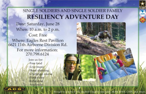 2014 Single Soldiers and Single Soldier Family Resiliency Adventure Day