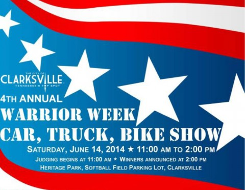 4th annual Warrior Week Car/Truck/Bike Show, June 14th
