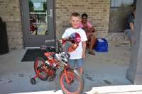 Salvatore Evangelista was one of the lucky raffle winners who took home a Cars themed bike.